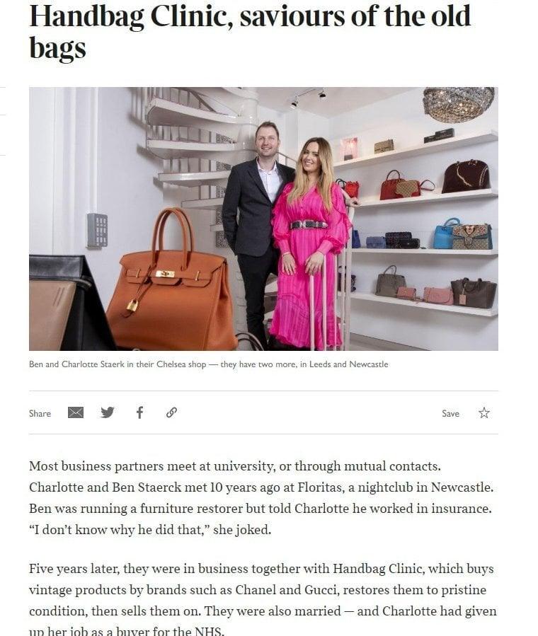 Sunday Times Article on Handbag Clinic