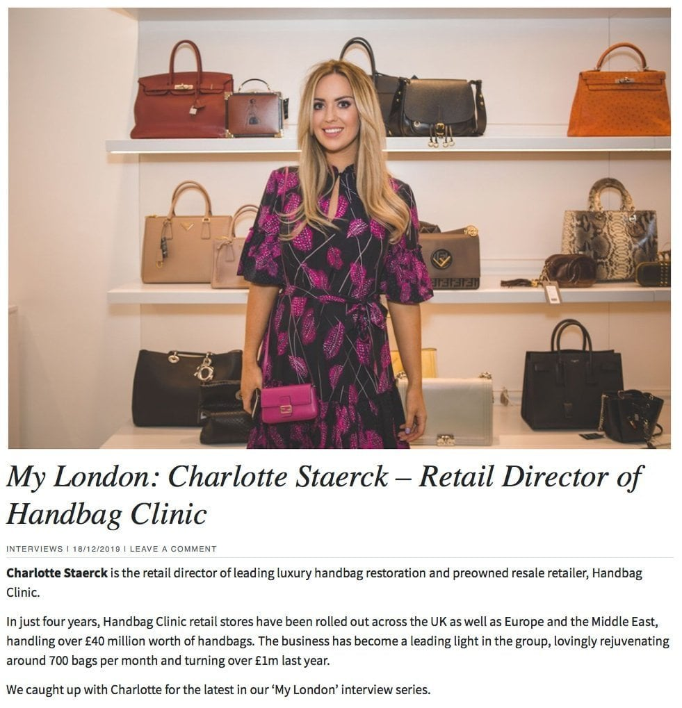 London Fashion with the Director of Handbag Clinic