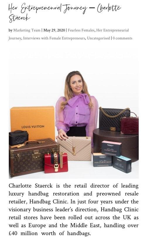 Female Entrepreneurs Network - Charlotte Staerck