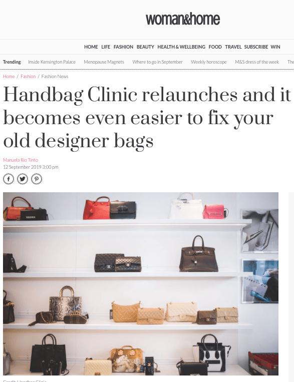 Handbag Clinic Chelsea Relaunch